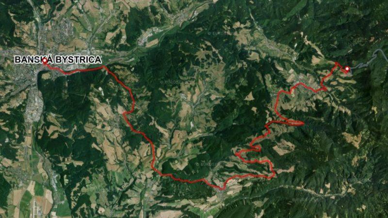 Bike Slovakia Mountain Route map stage 8 Banska Bystrica Lubietova