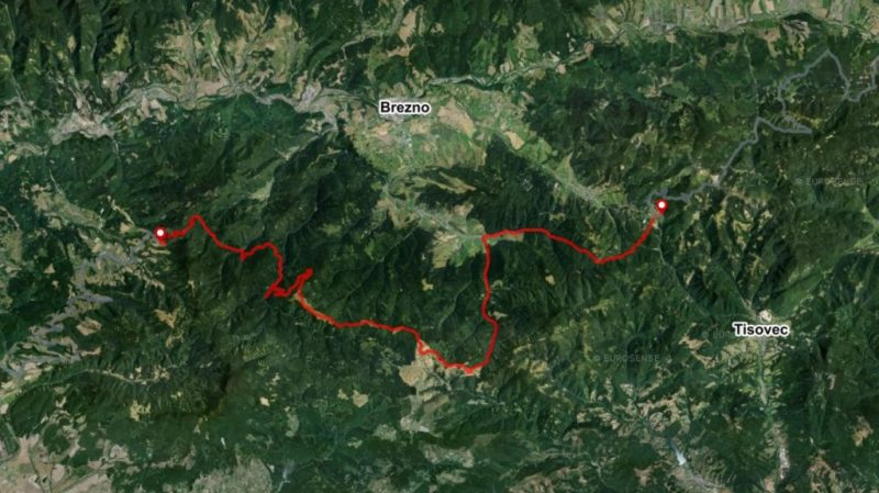Bike Slovakia map Celienec Zbojska Polana mountains Carpathians