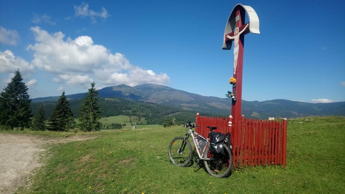 Mountain Bike in Carpathians