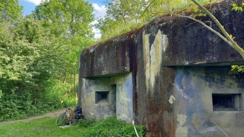 Concrete WWII bunker in Bratislava