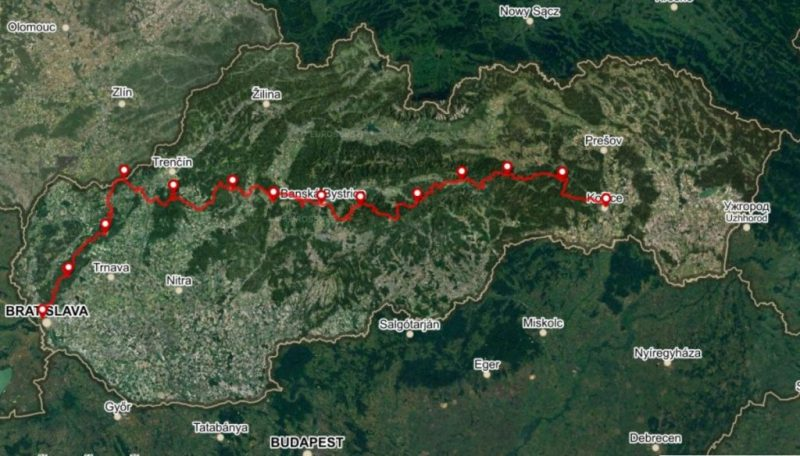 Mountain Route, 13 stages