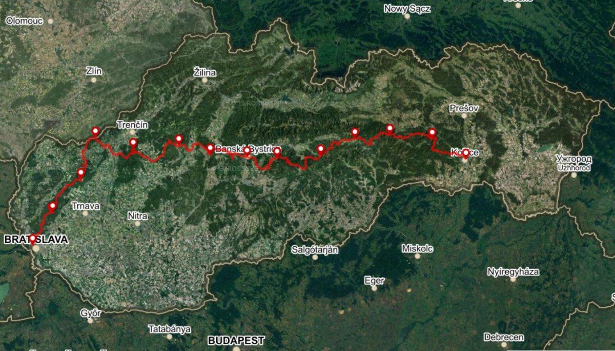 Horská trasa, 13 etáp, 695 km, +16 700 m