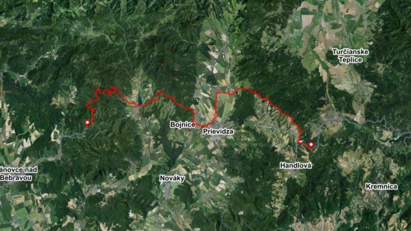 mountain bike route stage 6 omastina remata map slovakia